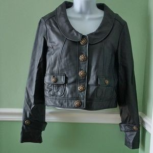 Wilsons Leather Button Front Jacket